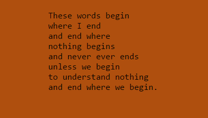 These words